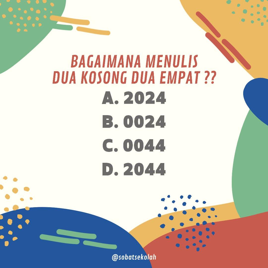 Jawaban Teka Teki 2024 0024 0044 2044 Sobatsekolah Com
