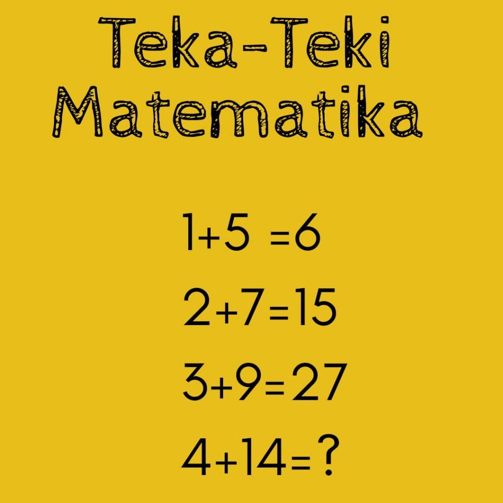 Uji Kecerdasan Dengan Teka-Teki Matematika